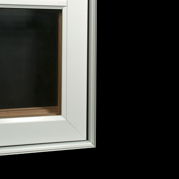 Window with no exterior trim
