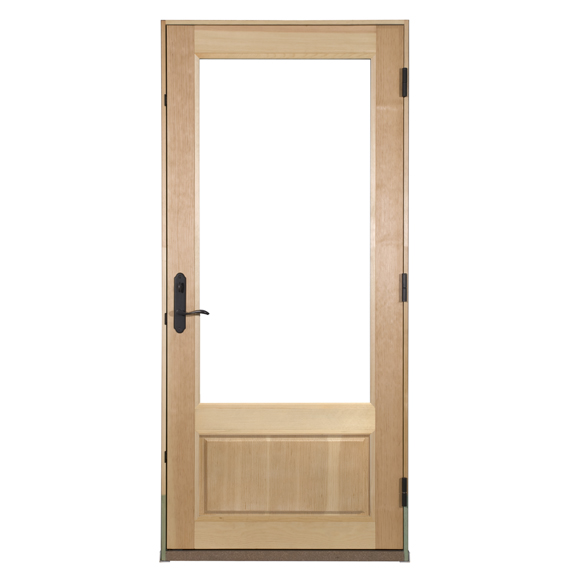 Door panel with standard solid panel insert