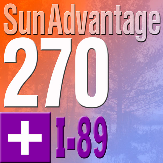 Sun Advantage 270 plus I-89 logo