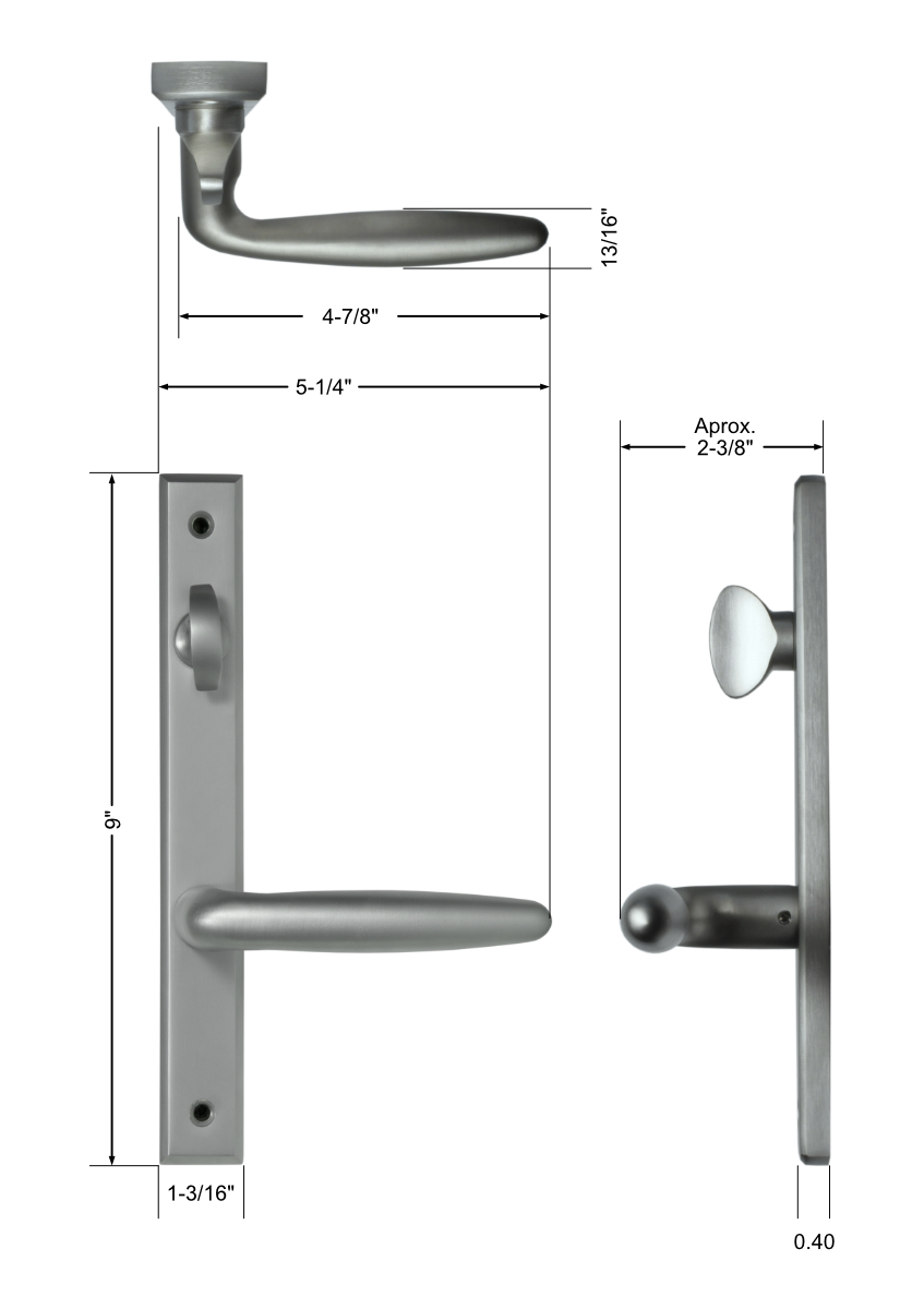 Torino Handle Set Dimensions