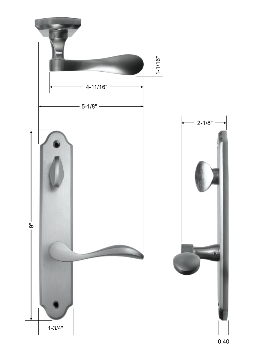 Venice Handle Set Dimensions