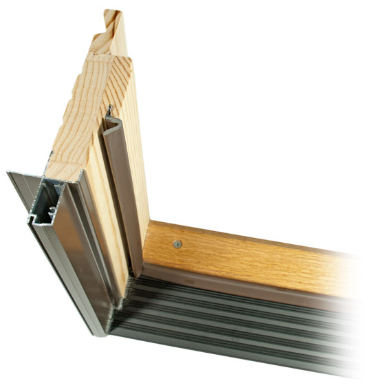 Out-swing Door with wood extension