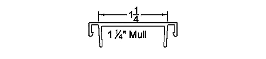 "Section detail - 1-1/4"" Mull"