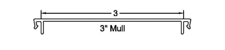 "Section detail - 3"" Mull"