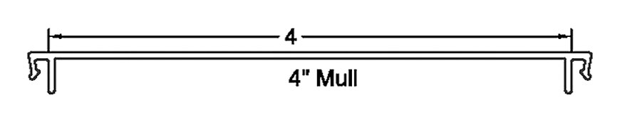 "Section detail - 4"" Mull"