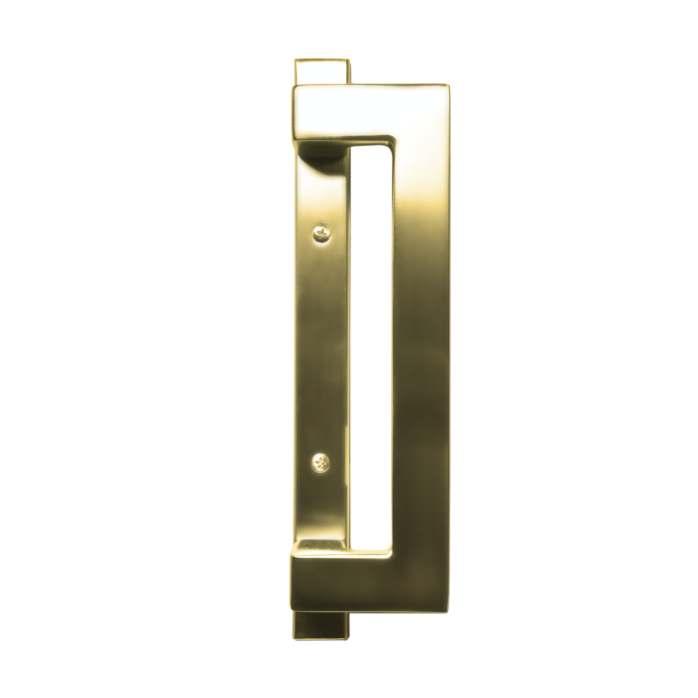 Sliding Door Contemporary Handle Set - Polished Brass